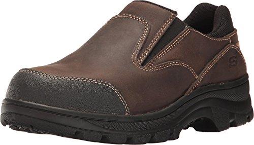 Skechers Work Workshire Teays St Womens Steel Toe Slip On Shoes Dark Brown 8 5