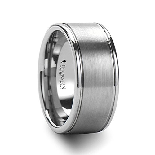 BRIDGEPORT Flat Satin Finish Tungsten Carbide Ring - (Bridgeport Finish)