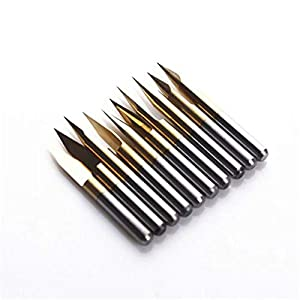 SHINA 10x Titanium Coated Carbide PCB Engraving CNC Bit Router Tool 30 Degree 0.1mm 0.2mm Tip from SHINA