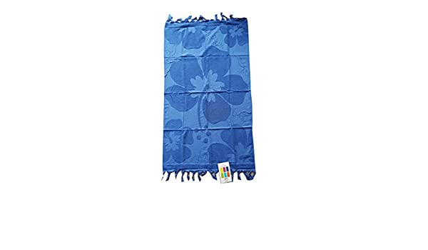 M&O Toalla Playa para Tumbona Piscina Playa de Esponja Microfibra Jacquard Lisa Color Azul: Amazon.es: Hogar