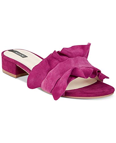 Alfani Womens Monah Leather Open Toe Casual Slide Sandals, Orchid, Size 8.5 from Alfani