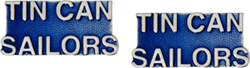- MilitaryBest US Navy Tin Can Sailors Lapel Hat Pin 2 Pack