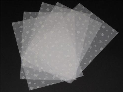 25 Sheets A4 100gsm Printed White Snowflakes Vellum AM518 Jackdaw Express