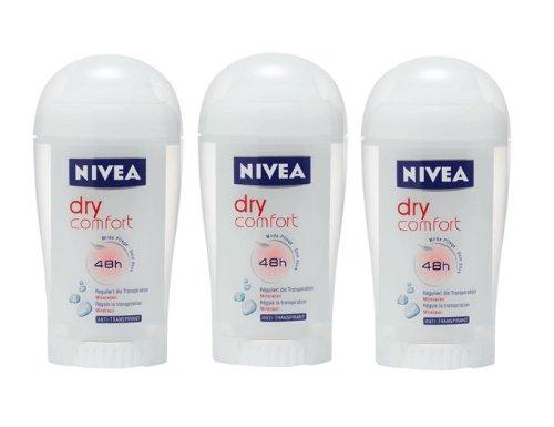 Nivea Dry Comfort for Women 48 Hr Deodorant Stick 43g. (Pack of 3)