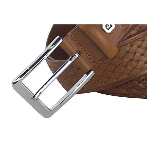 Mejor Cinturón hombre PIERRE CARDIN marrón real cuero Made in Italy sin  pespuntes 31cca6395d93