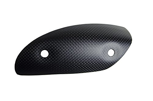 ((2011-2017) Ducati Diavel Cromo AMG Carbon Dark Matte Satin Carbon Fiber Fibre Exhaust Heat Sheild Cover [Same Weave Pattern & Matte Finish as Diavel Carbon Model and DP Carbon])