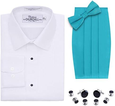 Camisa de Esmoquin Blanca para Hombre, Pajarita y cornudo ...