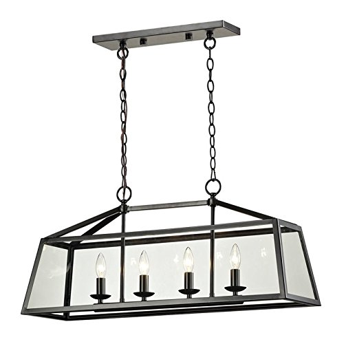 Elk Lighting 31508/4 Alanna Collection 4 Light Pendant In Oil Rubbed Bronze -