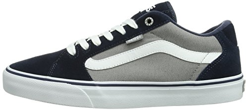Bleu Vans grey Navy textile Baskets white Faulkner Homme M Mode 7rBrCpXq