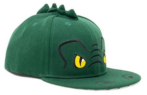 Kid's Dinosaur Hat | Children's T-Rex Baseball Cap Boy Girl Child Fun Animal Green -