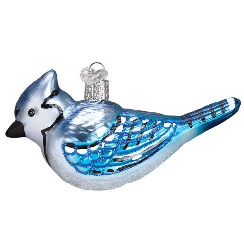 Old World Christmas 16121 Ornament, Bright Blue Jay