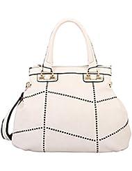 Mellow World Fashion Soffi Satchel, White, One Size