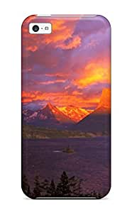 ZippyDoritEduard Iphone 5c Hybrid Tpu Case Cover Silicon Bumper Glacier National Park