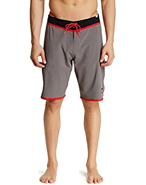 Men's Loc Scallop 21 Inch Boardshort (40, Grey)