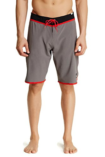 Quiksilver Men's Loc Scallop 21 Inch Boardshort (40, Grey)