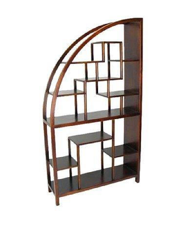 best authentic fc585 ffdd9 Wayborn Home Furnishing 5542 Curved Modular Bookcase, Brown
