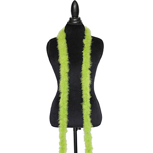 - Cynthia's Feathers Marabou Feather Boa 6 Feet Long 15 Grams Crafting Sewing Trim Hair Bows Wedding Halloween (Light Lime Green)