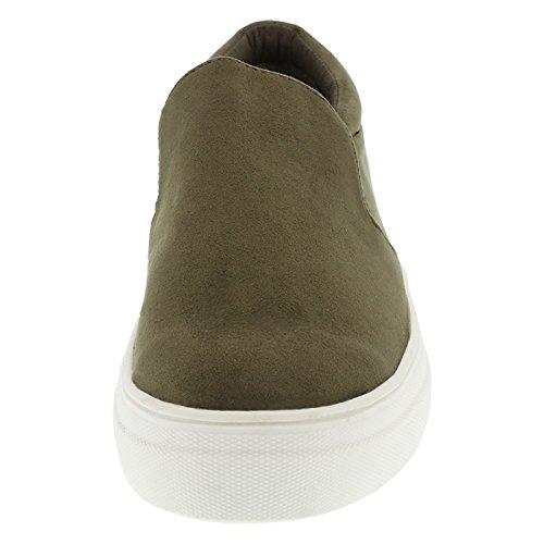 Brash Damen Evonne Slip-On Sneaker Olivgrünes Gewebe