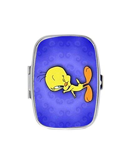Tweety Bird Personalized Custom HOT Sale stainless steel Pill Case Box Medicine Organizer Gift ()