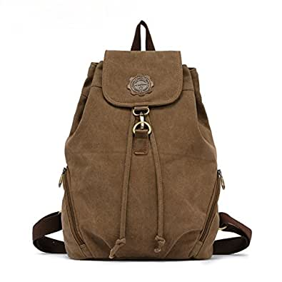 Amazon.com: Kaukko Brand Women's Vintage Canvas Backpack
