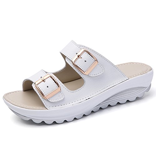VWU - Sandalias de vestir de Piel para mujer blanco