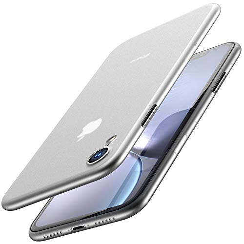 TOZO for iPhone XR Case 6.1 Inch (2018) Ultra-Thin Hard Cover Slim Fit [0.35mm] Worlds Thinnest Protect Bumper for iPhone XR [ Semi-Transparent ] Lightweight [Matte Finish White]