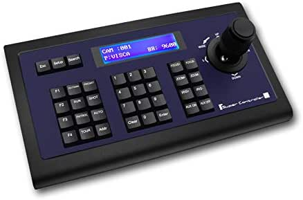 Tenveo PTZ Cameras Keyboard Controller for Business Meetings,PTZ Controller with Joystick Operation(TEVO-KZ1)