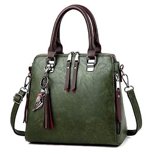 Green Satchel Handbag - 9
