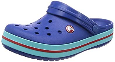 Crocs Unisex Adults Crocband Clog, Blue Jean/Pool , M5W7