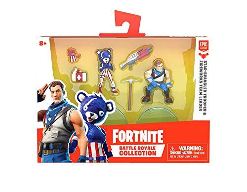 Fortnite Battle Royale Collection - Star-Spangled Trooper & Fireworks Team Leader – 2 Pack of Action Figures
