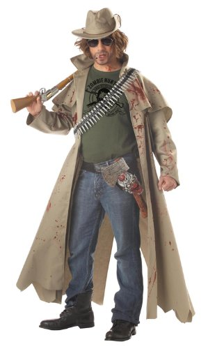 California Costumes Men's Zombie Hunter Costume,Tan,X-Large (Hunter Mens Costume)