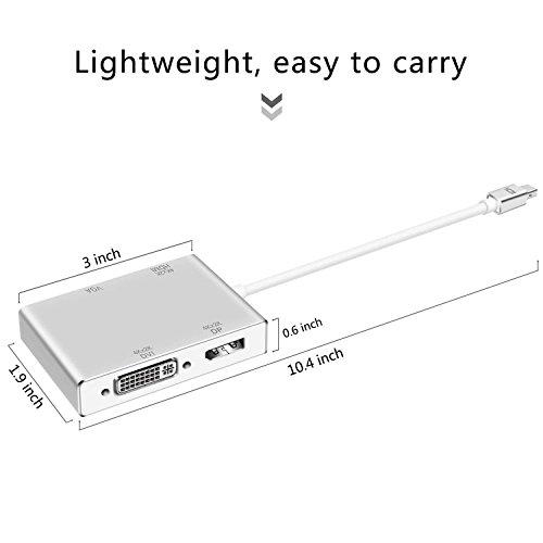 Mini Displayport Thunderbolt DP to HDMI DVI VGA DP Adapter 4K for Apple MacBook, iMac, Mac Air, Mac Pro by XAHC (Image #5)