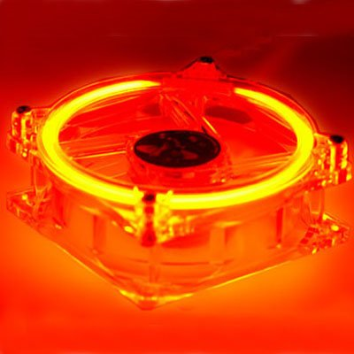 Logisys CCF80RD Red LED 80mm Bearing Case Fan with 4 Pin Connector - Dual Red Cold Cathode