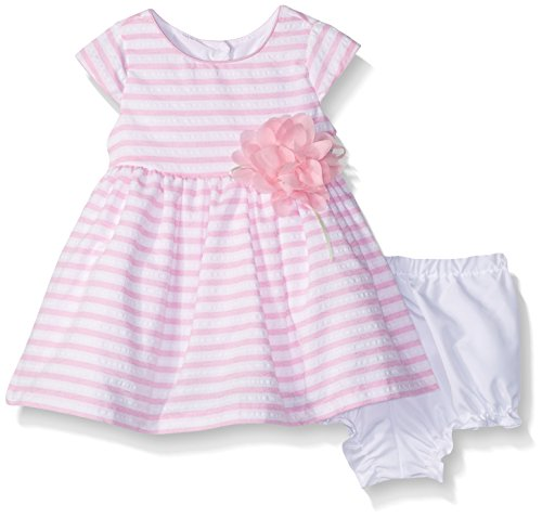 Marmellata Baby Girls' Pretty Spring Summer Party Dress, Pink Stripe, 0-3 Months (Pretty Spring)