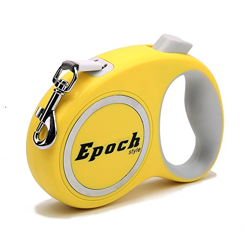 - Zero Dog Leads Extendable Retractable Dog Lead Strong Easy Walk Harness One Button Lock System QY-068,Yellow