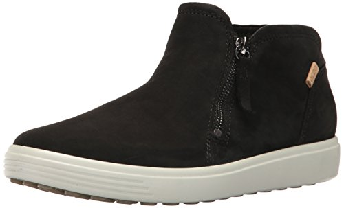 ECCO Women's Soft 7 Low Cut Zip Fashion Sneaker, Black/Powder, 37 EU / 6-6.5 US from ECCO