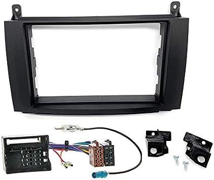 Sound-Way Kit Montaje Autoradio, Marco 2 DIN, Cable Adaptador Conector ISO, Adaptador Antena