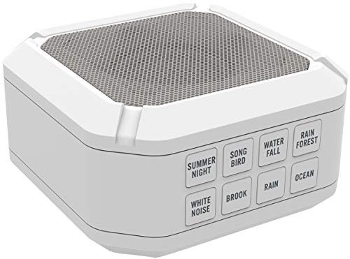 Big Red Rooster Portable White Noise Sound Machine | Sound Machine For Sleeping & Relaxation | 8 Natural & Soothing Sounds | Operates On 3 AA Batteries | Sleep Sound Therapy for Home, Office or Travel
