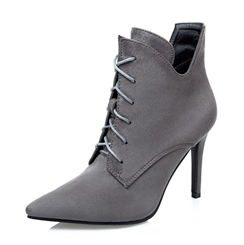 Nightclubs Tether Boots Women Short Short New Broken The Shoes Shoes KPHY Satin Grey Fashion The Tips Strap Heeled Boots Video By High Women Thin Down Rv8YB
