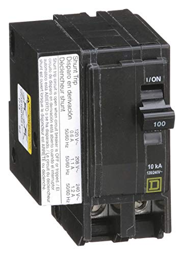 (Square D Plug in Circuit Breaker, QO, Number of Poles 2, 100 Amps, 120/240VAC, Shunt Trip)