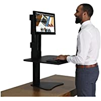 Victor DC300 High Rise Collection Sit-Stand Desk Converter 28 x 23 x 15 1/2 Black