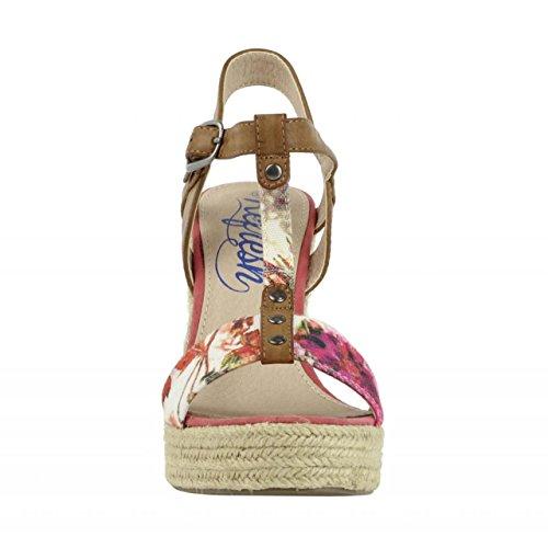 Chaussures compensées pour Femme REFRESH 61853 TEX CORAL