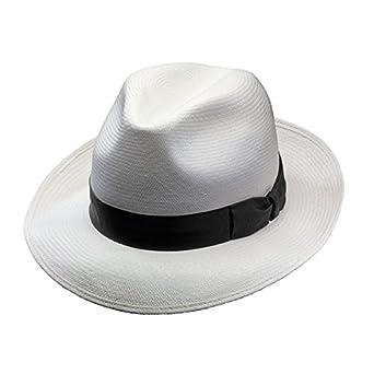 07399246 Borsalino Quenca Fino Panama Hat - Med. Brim at Amazon Men's Clothing store: