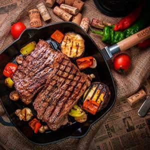 Fonte Po/êle grill Po/êle /à frire avec poign/ée amovible 24 x 24 cm