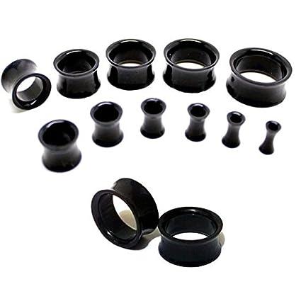 Set de 11 dilataciones, coló negro, material Ear Plug túnel ...
