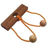Rompecabezas del anillo de la cuerda de la cuerda de los dos amantes - Juego mental de inteligencia de madera IQ