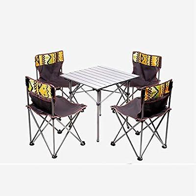 ZHAS Mesas y sillas Plegables Silla de Mesa de Picnic portátil Juego de Mesa y Silla para Barbacoa al Aire Libre 2 Colores Opcionales (Color: B): Amazon.es: Hogar