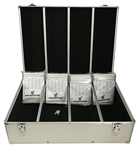CheckOutStore Silver Aluminum CD/DVD Hanging Sleeves Storage Box (Holds 1000 Discs) ()