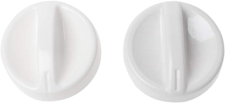 ZhiwenCZW - 2 unidades de horno microondas universal bobina de plástico perilla giratoria interruptor de control del temporizador