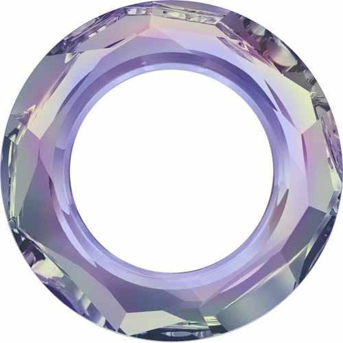 4139 Swarovski Fancy Stones Cosmic Ring | Crystal Vitrail Light UNFOILED | 14mm - Pack of 1 | Small & Wholesale Packs - 4139 14mm Cosmic Ring Crystal